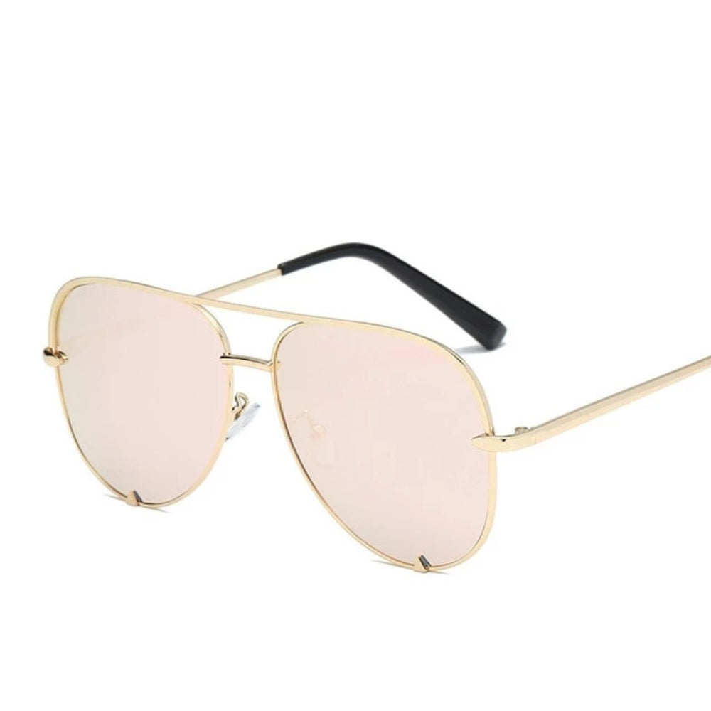 Mirrored Aviator Flat Lens Sunglasses - UNISEX Shades- Classic style