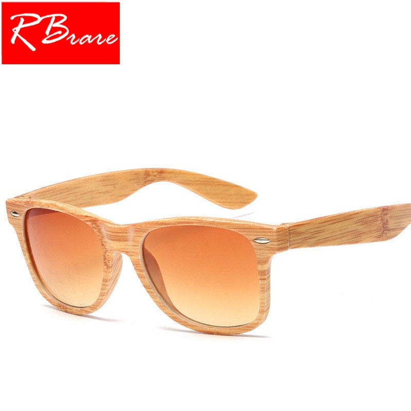 RBRARE 2019 Luxury Sunglasses Women Imitation Wood Glasses Bamboo Grain Classic Vintage Outdoor Travel Oculos De Sol Feminino
