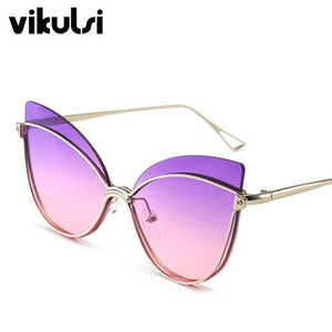 Sexy Ladies Cat Eye Sunglasses Women 2019 Brand Designer Fashion Cateye Gradient Sun Glasses Female Vintage Eyewear Shades UV400