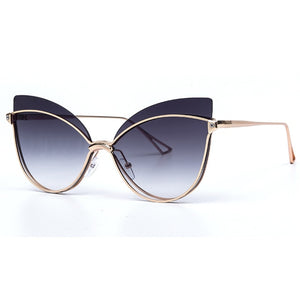 New Cat Eye Sunglasses Women Men Personality Luxury 2019 Fashion Butterfly Cateye Female Eyeglasses Shades UV400 Vintage Glasses