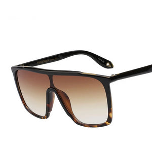 Oversized square UNISEX sunglasses - Flat top