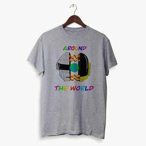 Polera Hombre - Daft Punk - Around the World