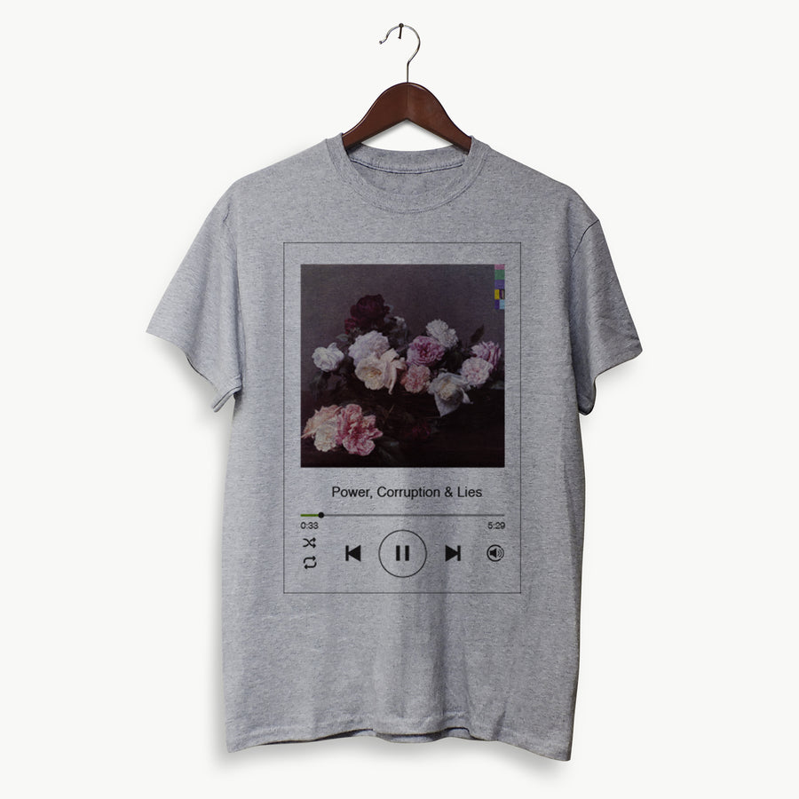 Polera Hombre -  New Order - Power, Corruption & lies