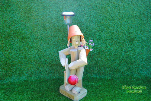 Cricketer with a solar light
