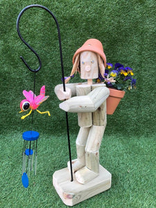 Standing Girl or Boy with Crooks & wind chimes