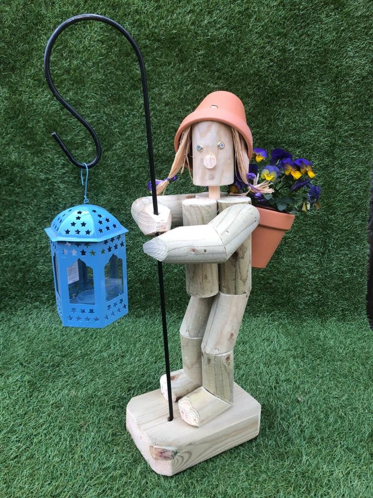 Standing Girl or Boy  with Crook & lantern blue