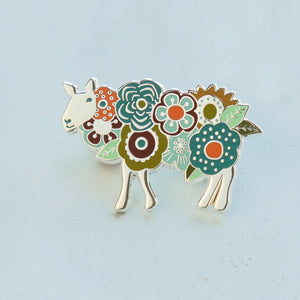 Enamel Pin - Flower Sheep