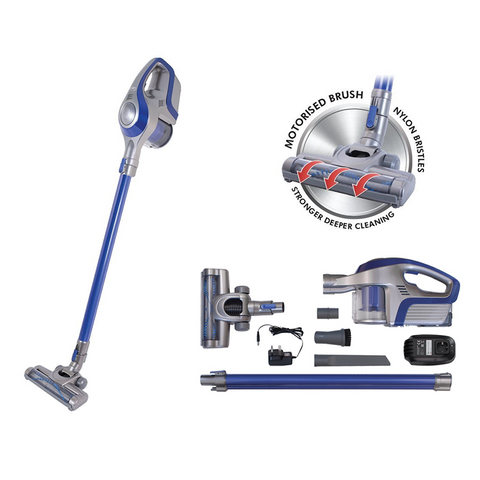 Cordless Upright & Handheld Vacuum Cleaner with 22.2v Li-ion Battery & Accessory Kit