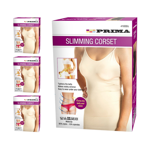 Set of 2 Super Slimming Shapewear Corsets in Black & Beige - Buy One Get One Free