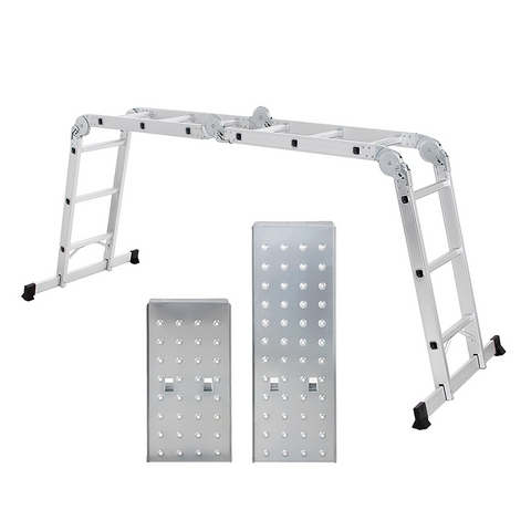 Multi Function Aluminum Folding Ladder with Platform Kit - FREE P&P