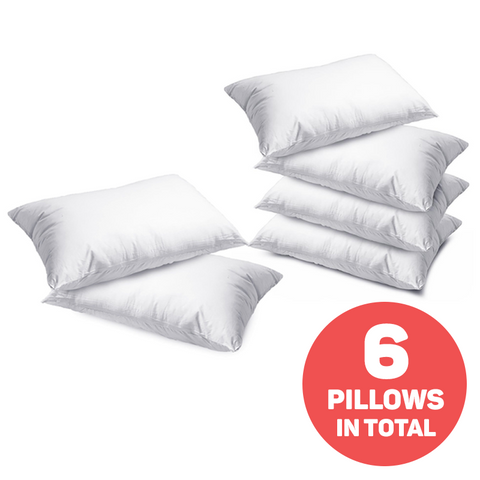 Set of 2 Hollow Fibre Super Bounce Back Pillows - Buy One Get Two Free