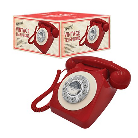 Retro Classic Push Button Red Telephone