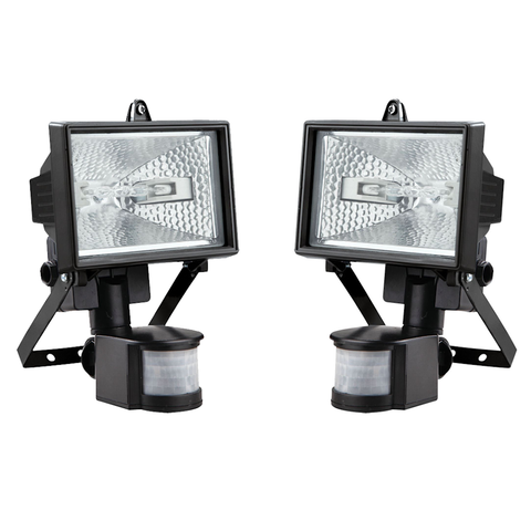 150W Halogen Security Light with PIR Motion Sensor - Buy One Get One Free