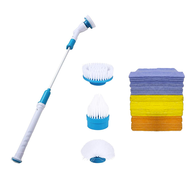 Cordless Spin Scrubber with 3 Cleaning Heads + 50 Free Cleaning Cloths