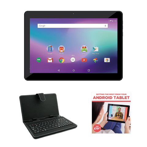 "10.1"" Quad Core 16GB Android Tablet with WiFi, GPS & 3G with Case & Keyboard + FREE Starter DVD"
