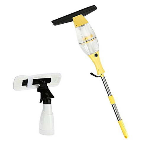 Cordless Window Vac with Extension Pole + Free Window Cleaning Kit