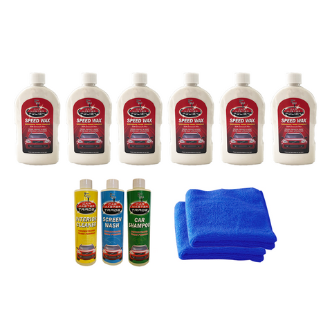 Car Master™ Speed Wax Kit + FREE Valeting Kit