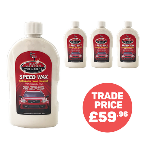 Car Master™ Speed Wax - 4 Bottle Bumper Kit