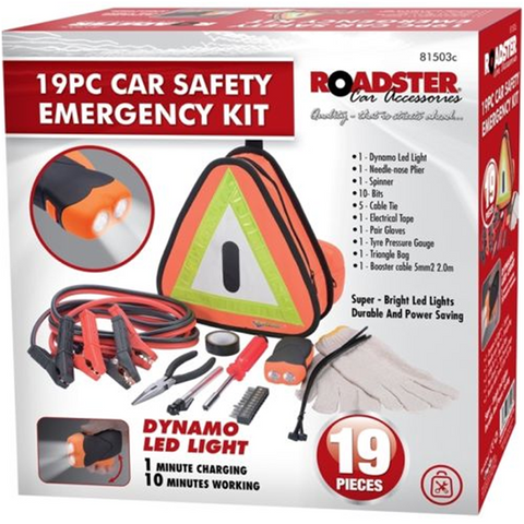 19pc Motor Emergency & Breakdown Kit