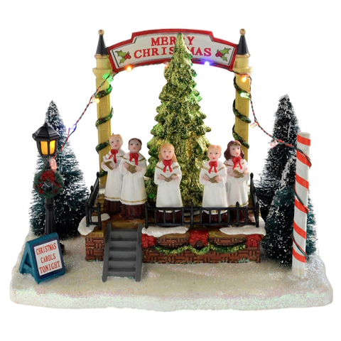 21cm Musical Singing Choir with Rotating Tree