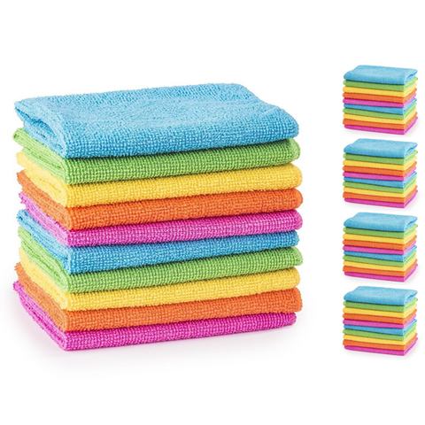 Pack of 50 Microfibre Cleaning Cloths