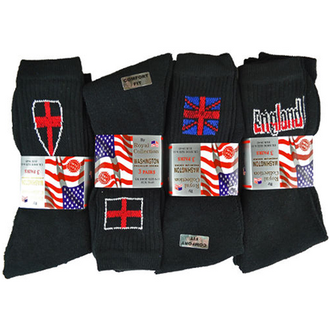 Set of 6 Thermal Mix England Socks - Buy One Get One Free