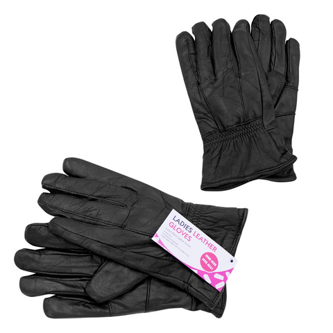 Genuine Leather Gloves with Soft Thinsulate Lining - Buy One Get One Free