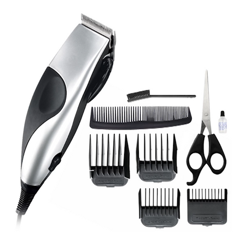 10pc Stainless Steel Hair, Beard & Neck Clipper Set - Free P&P