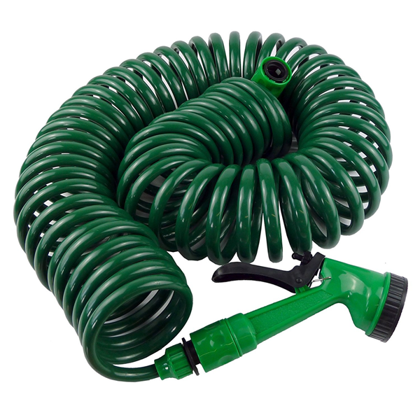 30m Retractable Garden Hose with Spray Gun Nozzle