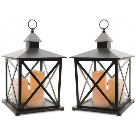 Battery Operated Flickering Candle Lantern - Buy One Get One Free