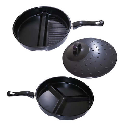 3 in 1 Non-Stick Breakfast Frying Pan