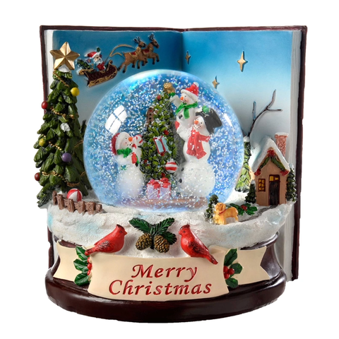 16cm Colour Changing Musical Snow Globe