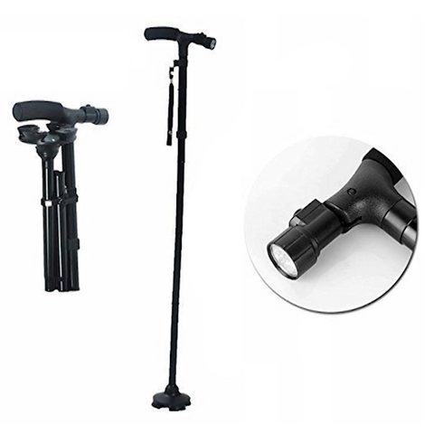 Ultimate Magic Cane Folding & Extendable Walking Stick with LED Light
