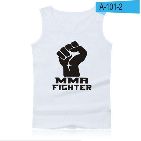 MMA Exercise Workout Tank Tops Men Clothes