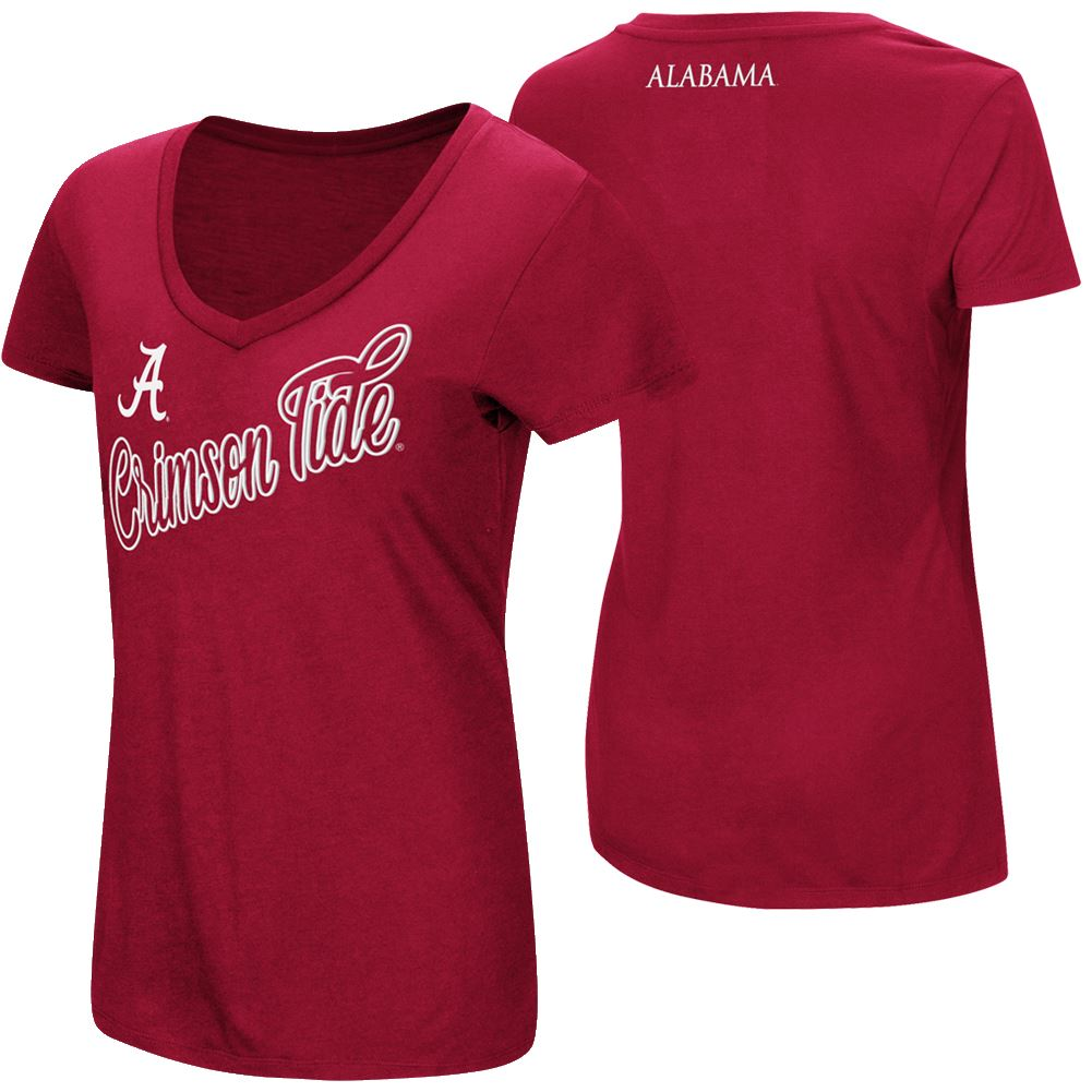 Colosseum NCAA Women's Alabama Crimson Tide Big Sweet Dollars V-Neck