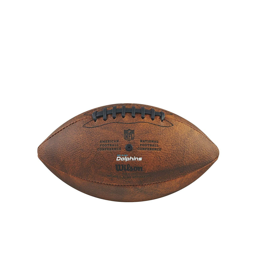 Wilson NFL Miami Dolphins Team Logo Throwback Junior Football Brown11 Inch