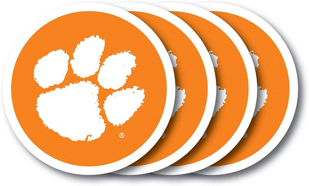 Duck House NCAA Clemson Tigers Coaster Set 4-Pack