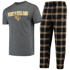 Concepts Sport NCAA Men's Central Florida Knights (UCF) Troupe Shirt And Pants Pajama Sleepwear 2-Piece Set
