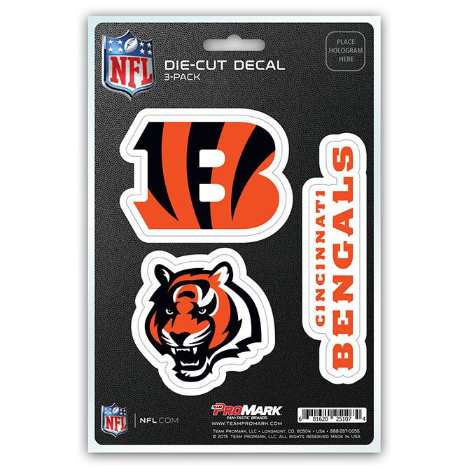 Promark NFL Cincinnati Bengals Team Decal - Pack of 3