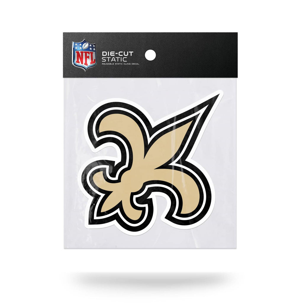 Rico NFL New Orleans Saints Shape Cut Static Cling Auto Decal Car Sticker Medium SSCM