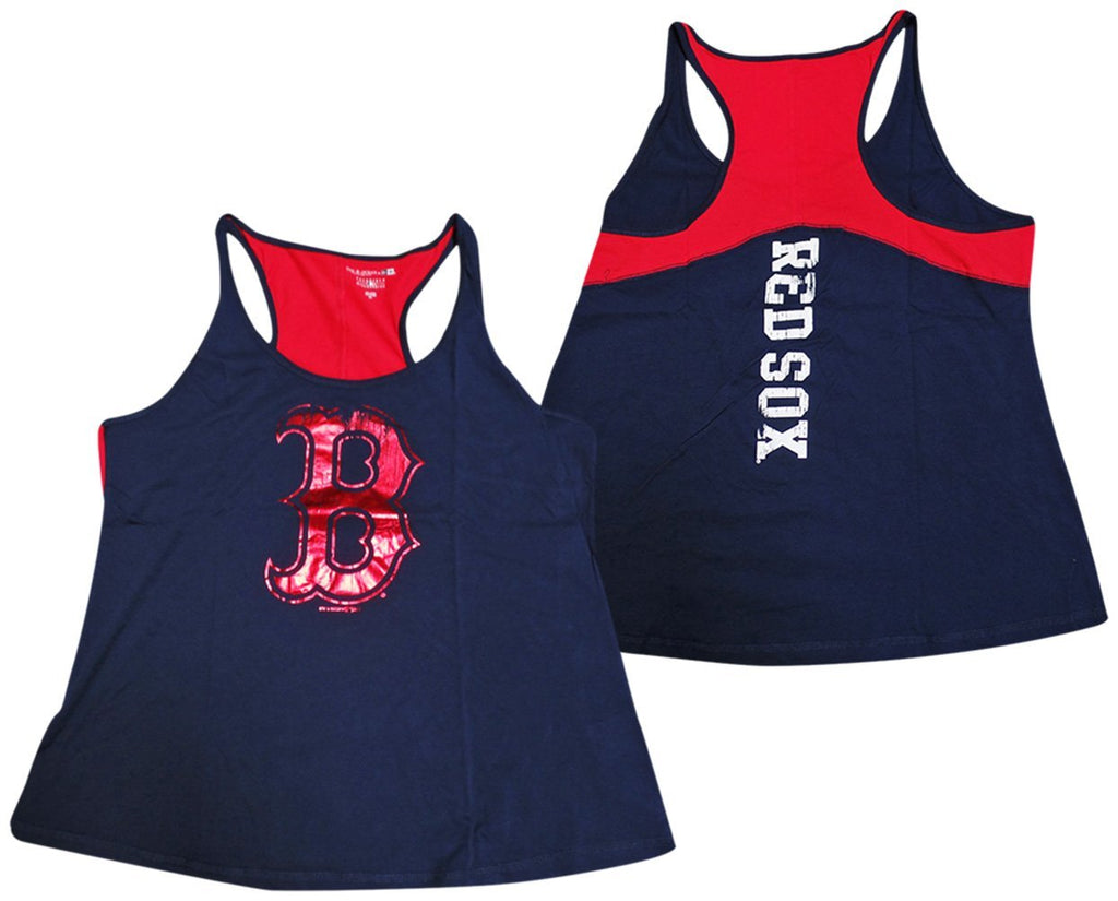 b216d364cbeee 5th   Ocean MLB Women s Boston Red Sox Foil Tank Top