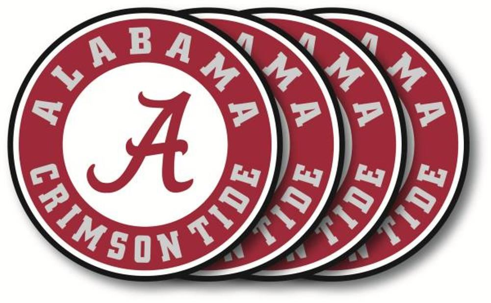 Duck House NCAA Alabama Crimson Tide Coaster Set 4-Pack