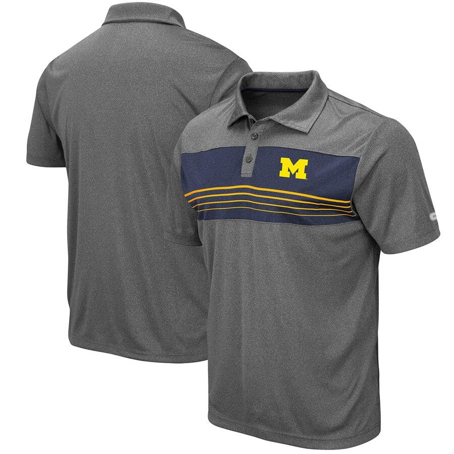 Colosseum NCAA Men's Michigan Wolverines Smithers Polo Shirt