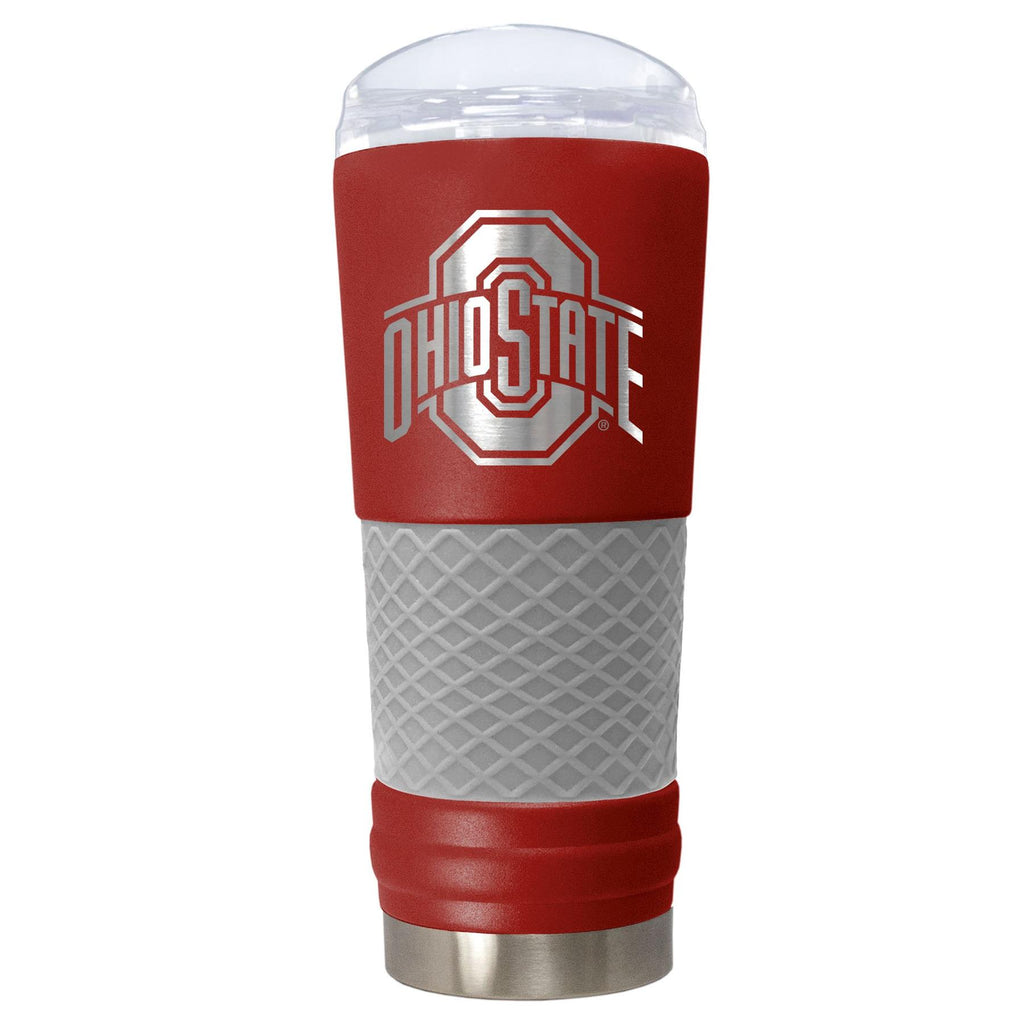 Great American Products NCAA Ohio State Buckeyes Powder Coated Draft Tumbler 24oz Red