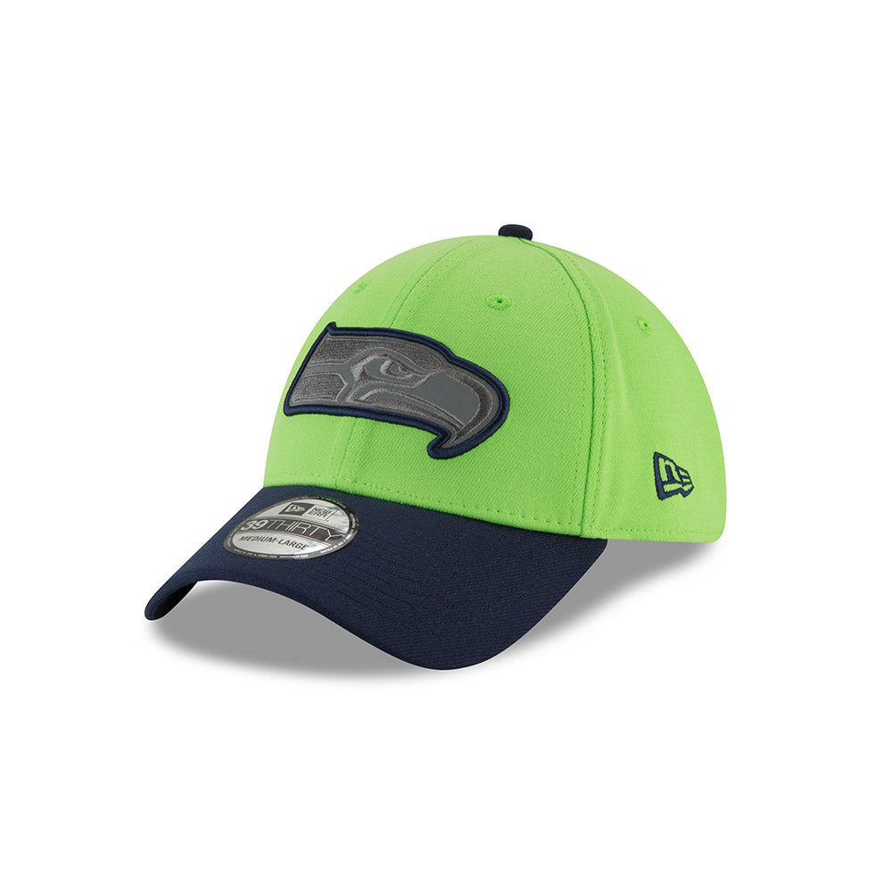 New Era NFL Seattle Seahawks Sideline Thanksgiving Flex Hat 39THIRTY Green