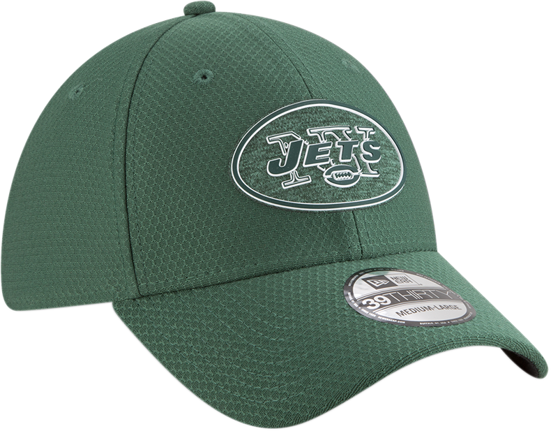 New Era NFL Men's New York Jets 2018 Training Camp Primary 39Thirty Flex Hat