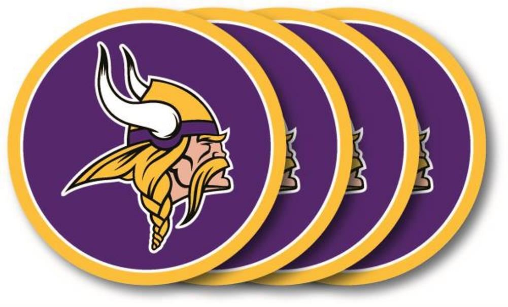 Duck House NFL Minnesota Vikings Coaster Set 4-Pack
