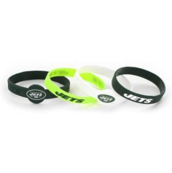 Aminco NFL New York Jets 4-Pack Silicone Bracelets