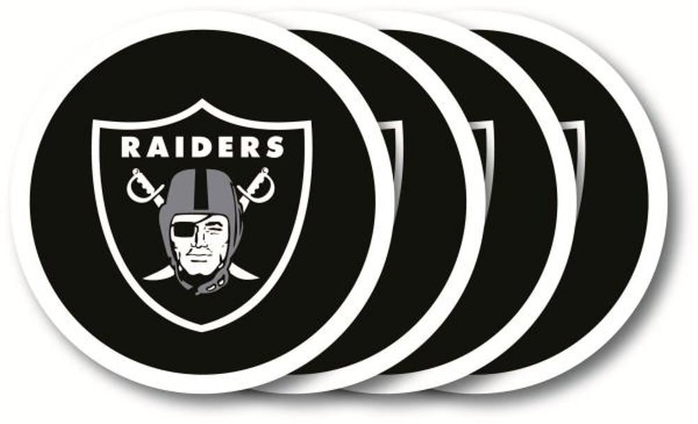 Duck House NFL Oakland Raiders Coaster Set 4-Pack