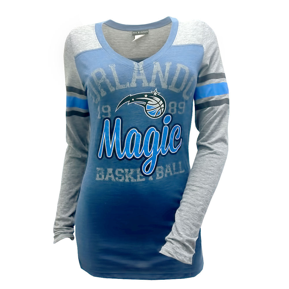 5th & Ocean NBA Women's Orlando Magic Three Point Long Sleeve T-Shirt